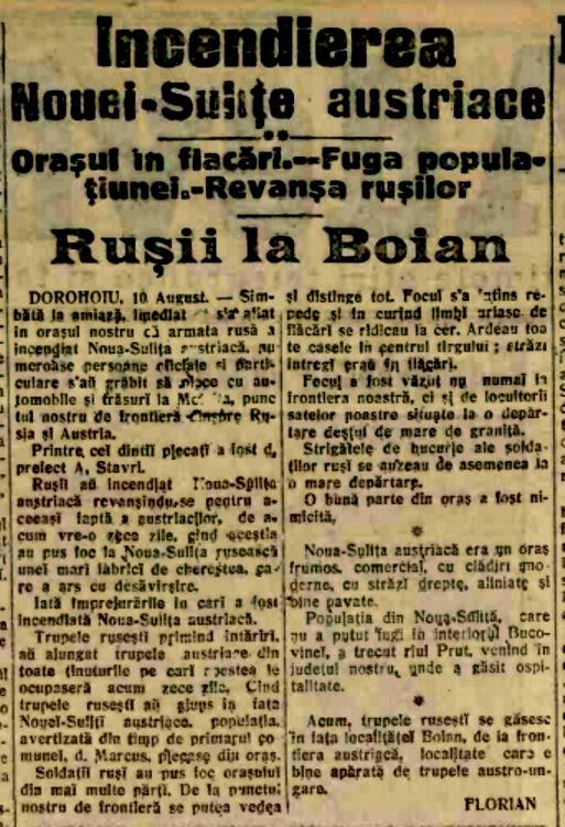 1914 Rusii la Boian