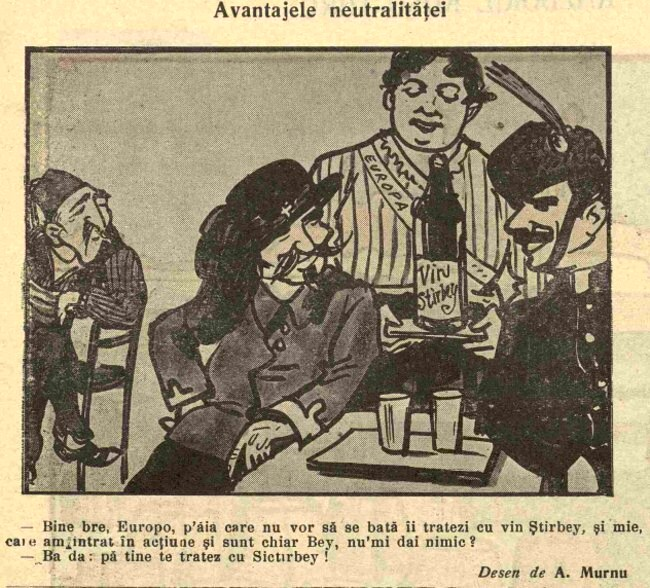 1914 noiembrie 11 FURNICA Avantajele neutralitatii