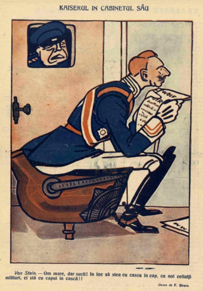 1914 noiembrie 13 FURNICA Kaizerul in cabinetul sau