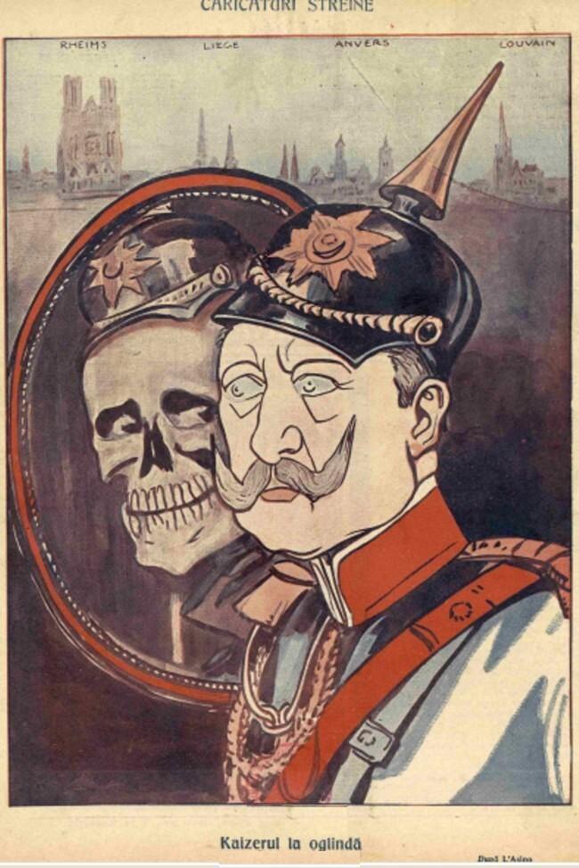 1914 octombrie 7 FURNICA Kaizerul la oglinda