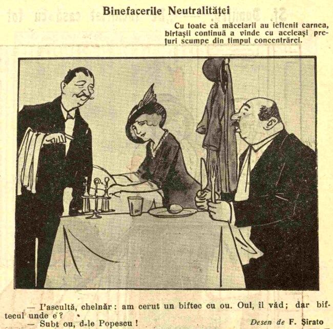 1914 octombrie 8 FURNICA Binefacerile neutralitatii