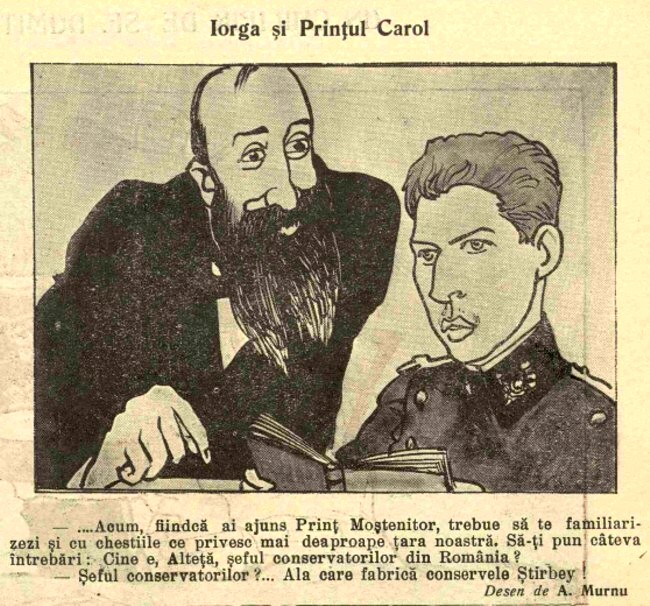 1914 octombrie 8 FURNICA Iorga si Printul Carol