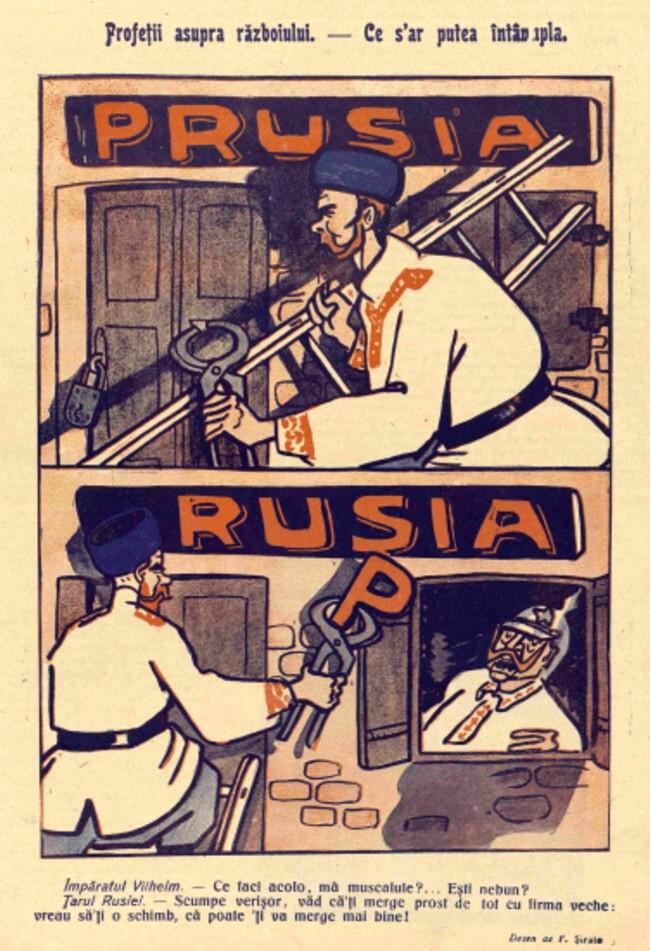 1914 septembrie 3 FURNICA Profetii asupra razboiului
