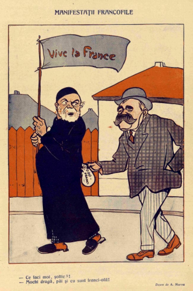 1914 septembrie FURNICA Manifestatii francofile