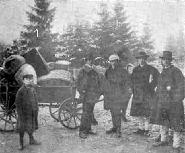 Grup de refugiaţi bucovineni, la frontieră