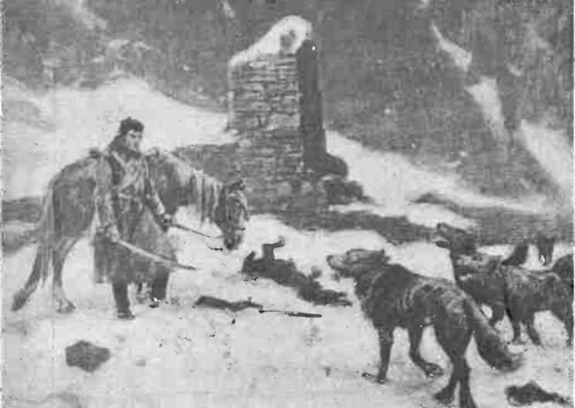Cazac, înconjurat de lupi - Gazeta Ilustrată din 25 aprilie