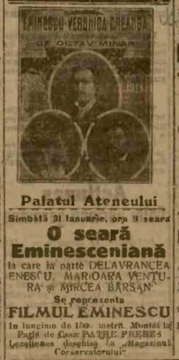 1915 ianuarie 14 ADEVARUL Eminescu