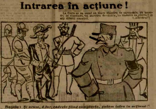 1915 ianuarie 14 ADEVARUL caricatura Intrarea in actiune