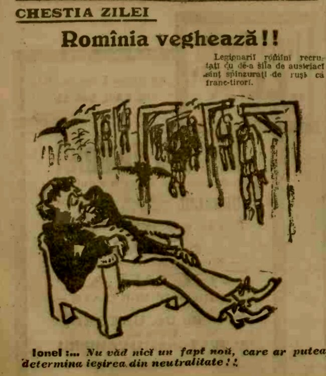1915 ianuarie 8 ADEVARUL Romania vegheaza