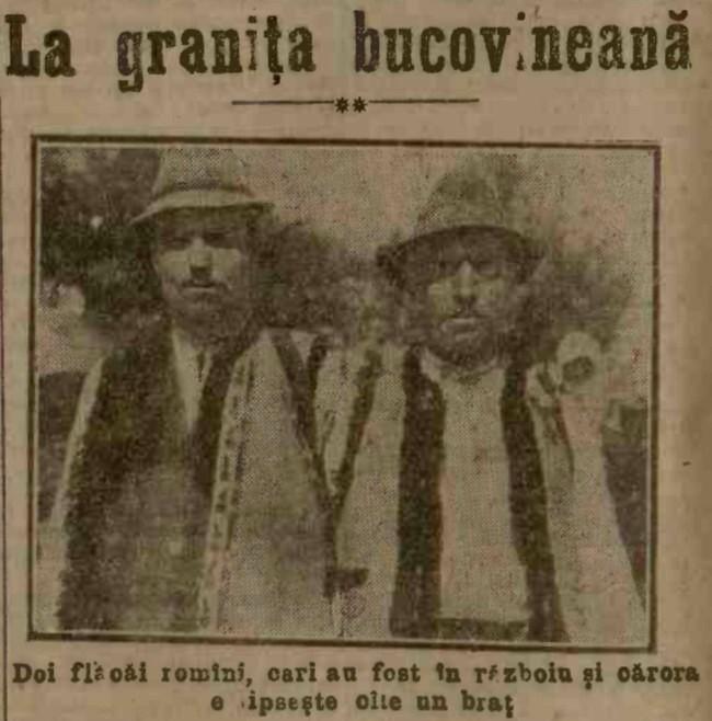 1915 iulie 21 ADEVARUL Doi bucovineni