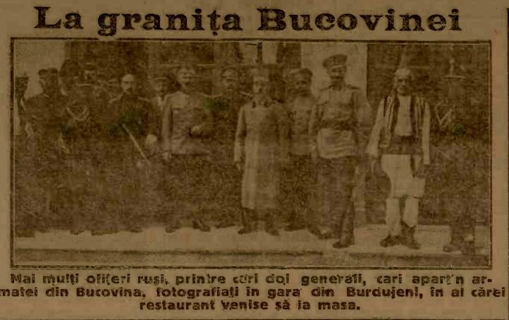 1915 iulie 28 ADEVARUL Rusi la Burdujeni