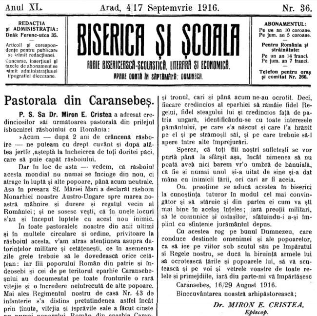 1916 Pastorala de la Caransebes