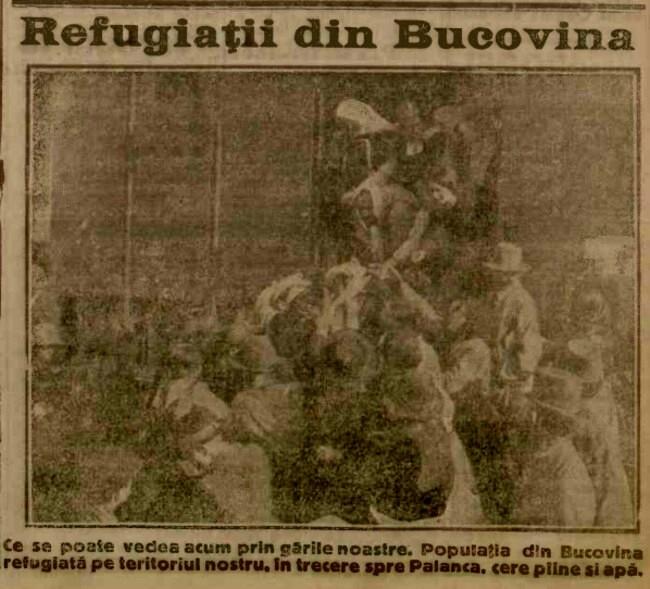 1916 iunie 13 ADEVARUL Refugiatii din Bucovina
