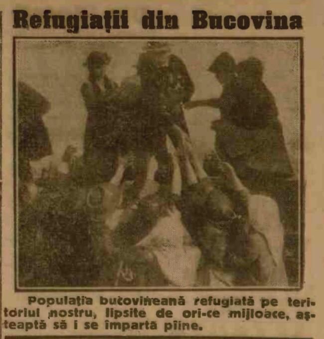1916 iunie 14 ADEVARUL Refugiati din Bucovina