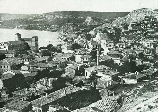 Balcic, vedere dinspre sudul oraşului
