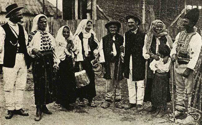 Ţărani din satul Nereju, Vrancea
