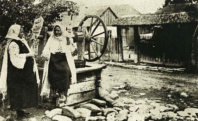 Vedere din satul Nereju, Vrancea