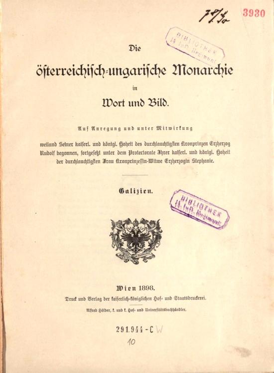 Monarhia austro-ungară în cuvinte şi imagini / 19 Galiţia