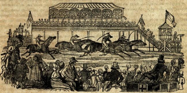"""Alergare de cai în Anglia - """"Icoana Lumei, 1840"""