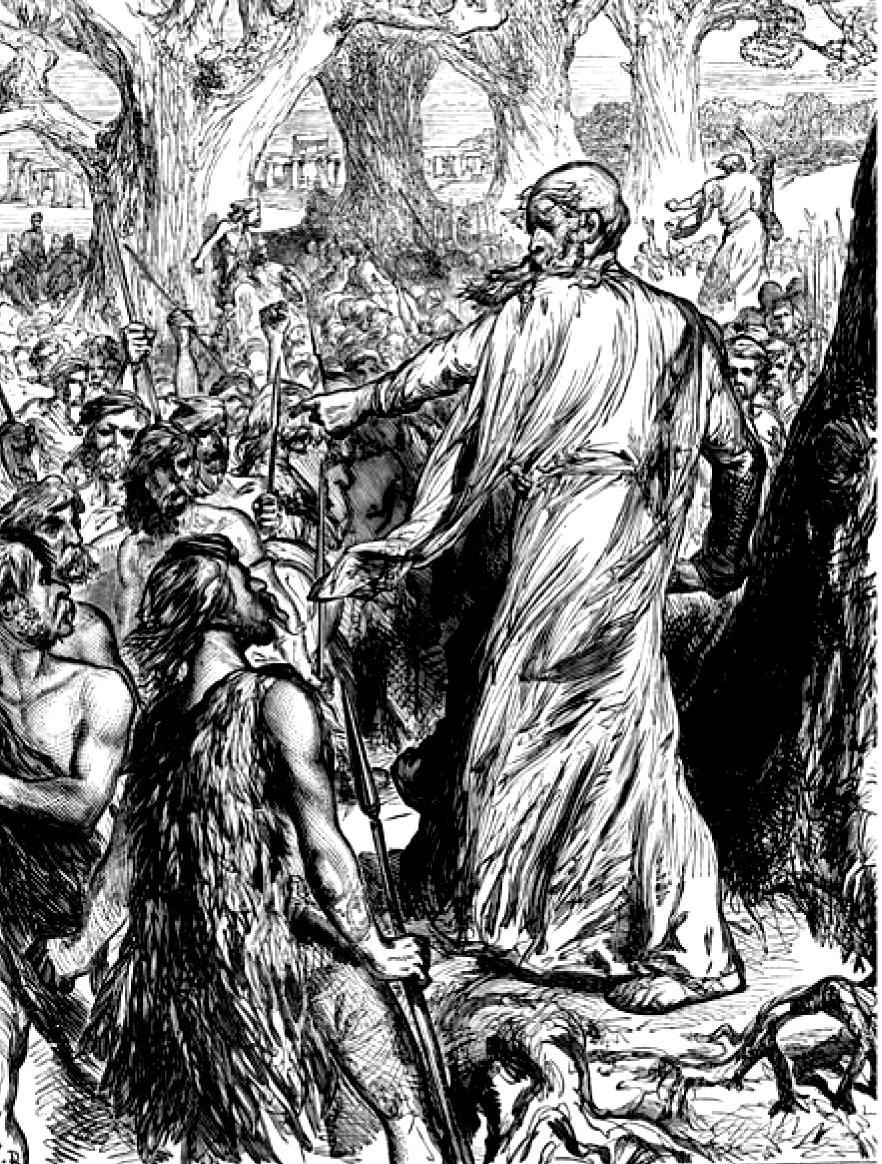 Druidul, între războinici