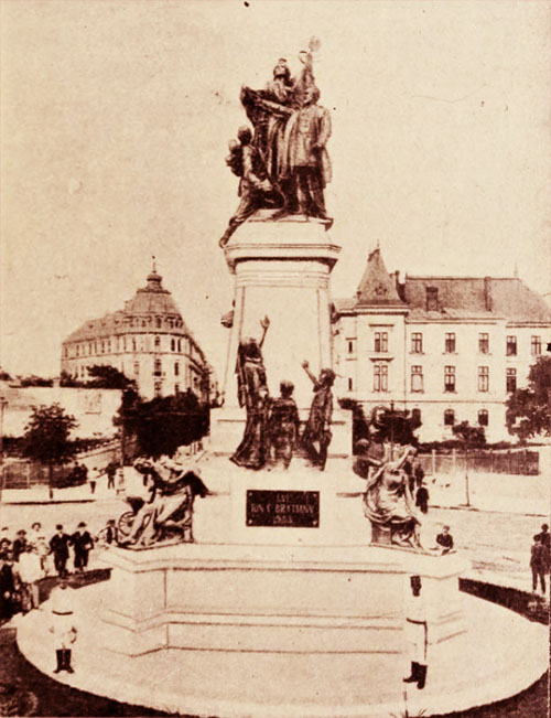 Statuia lui I. C. Brătianu, de pe Bulevardul Carol