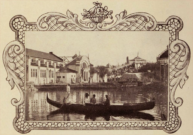 Vedere de pe lacul Expoziției din 1906
