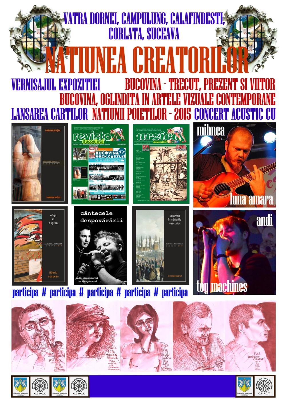 AFIS NATIUNEA CREATORILOR AUGUST 2015 M