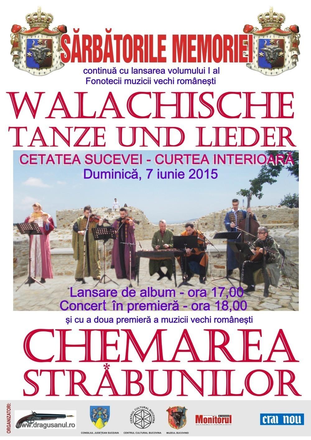 Duminică - 7 iunie 2015, în Cetatea de Scaun a Moldovei