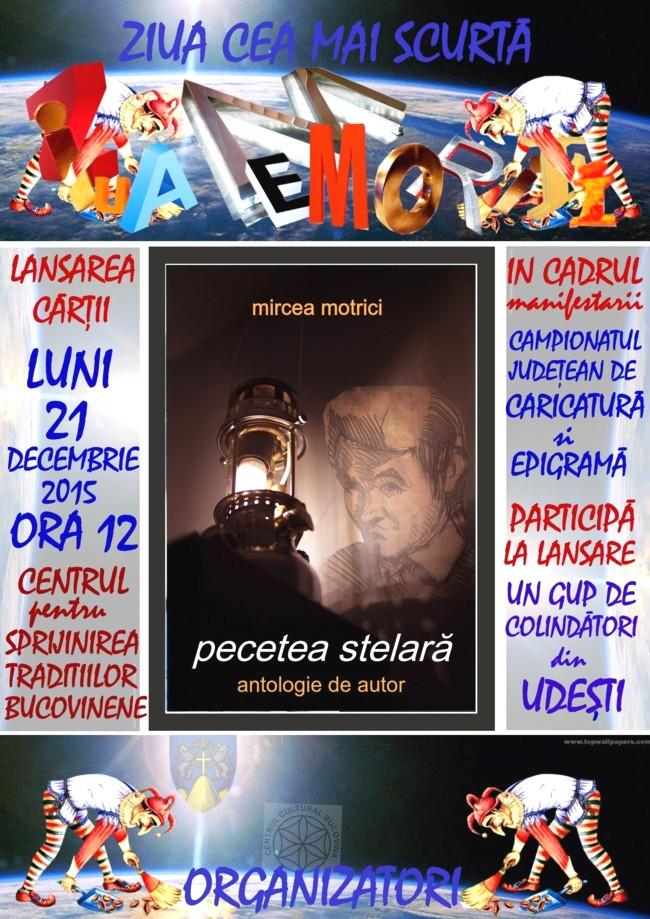 Lansarea cărţii lui Mircea Motrici, în 21 decembrie