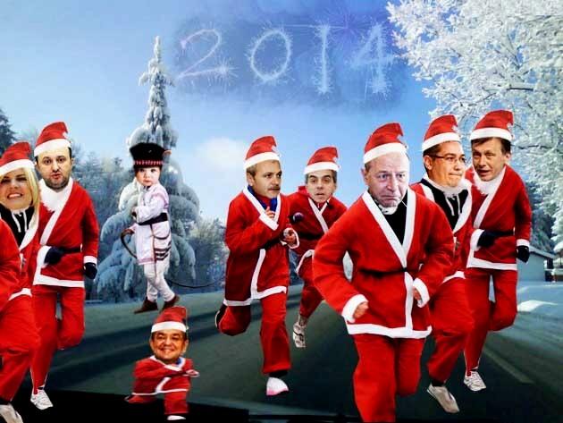Traian Băsescu: Ce ai cu noi, copile, de ne alergi cu harapnicul? Anul Nou: Eu, nimic, dar ţării i s-a urât cu totul...