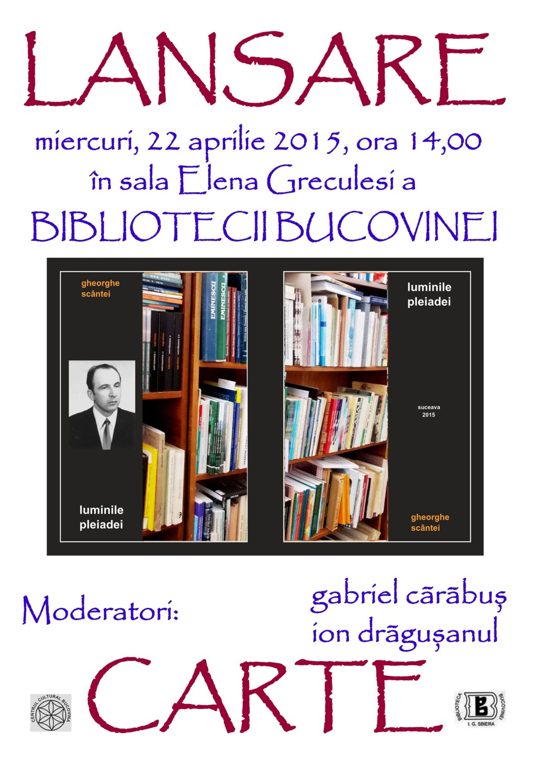 Cartea care se va lansa miercuri, 22 aprilie 2015