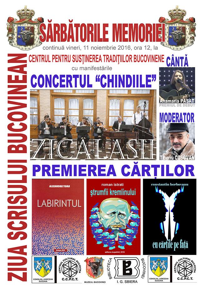 Afis ZIUA SCRISULUI BUCOVINEAN 2016 m