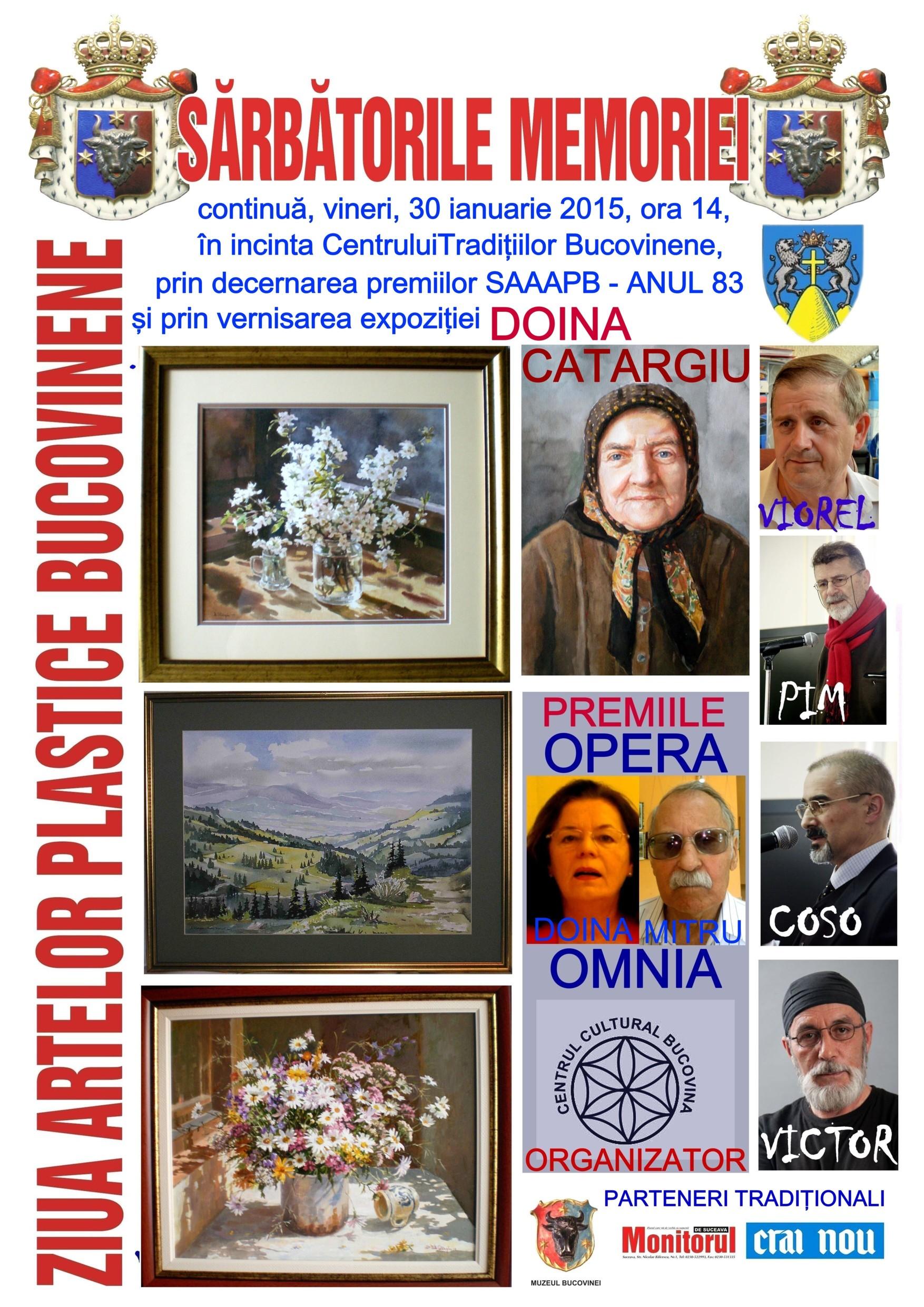 Afişul Zilei Artelor Plastice Bucovinene - Anul 83