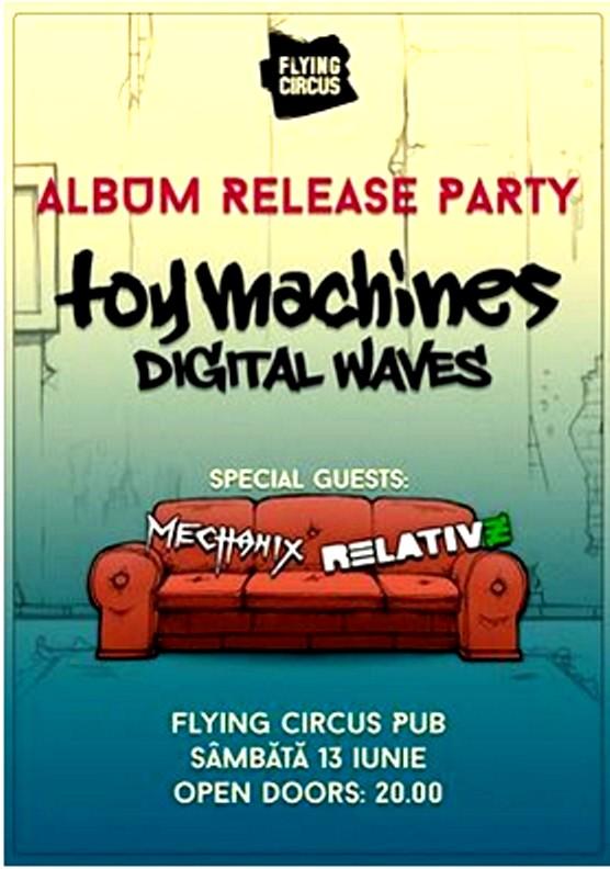 Afişul-copertă de album al trupei Toy Machines