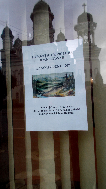 Afişul expoziţiei lui Ioan Bodnar