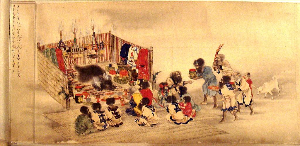 Ritualul populaţiei Ainu, omagiind Timpul şi Ţinutul Ursei Mari