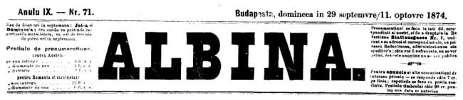 Albina 1874 Jubileu