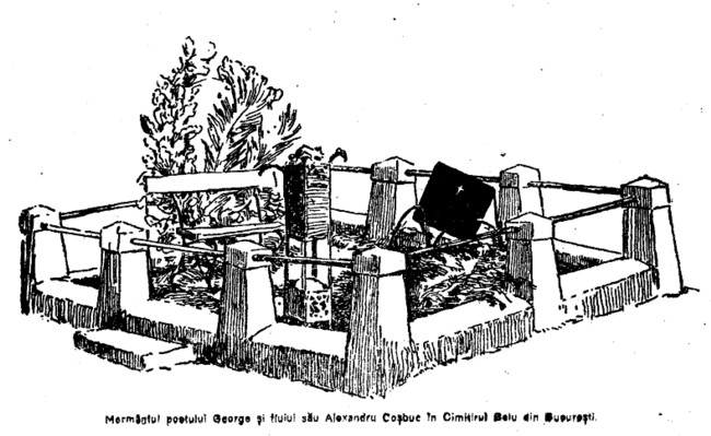 Alexabdru si George Cosbuc mormant LUCEAFARUL  1919 martie 1