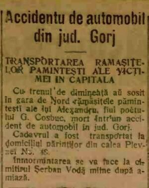 Alexandru Cosbuc ADEVARUL 30 aug 1915