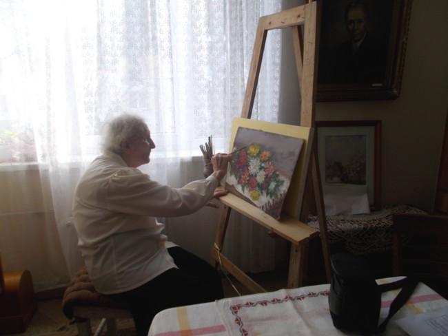 Ana Candrea Constantin la sevalet 1