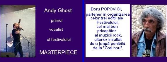 Andy Ghost şi Doru Popovici, două personalităţi reale ale Festivalului Internaţional BUCOVINA ROCK CASTLE - Fotografii de Victor T. Rusu