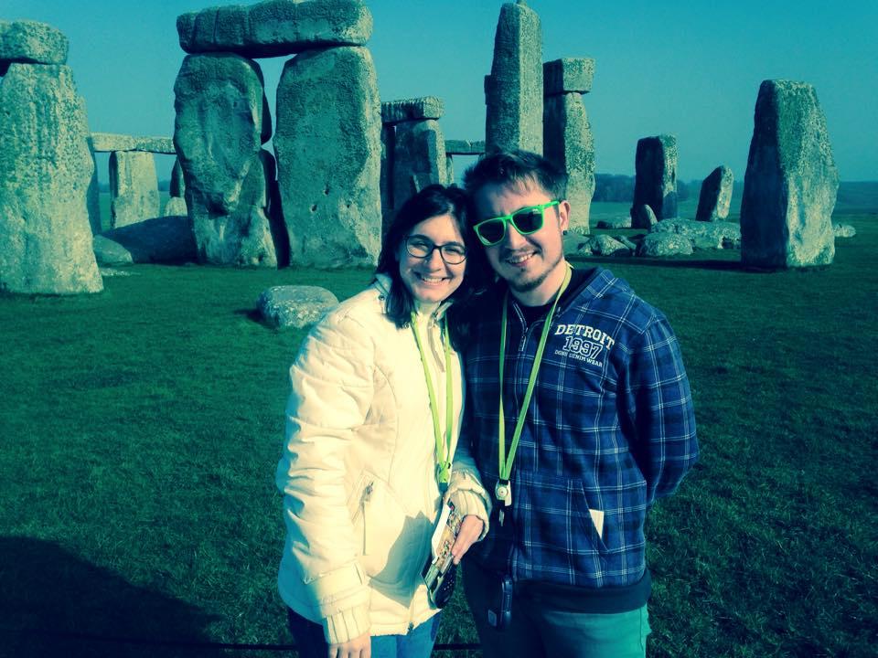 Andeea Savin şi Andi Drăguşanul, la Stonehenge