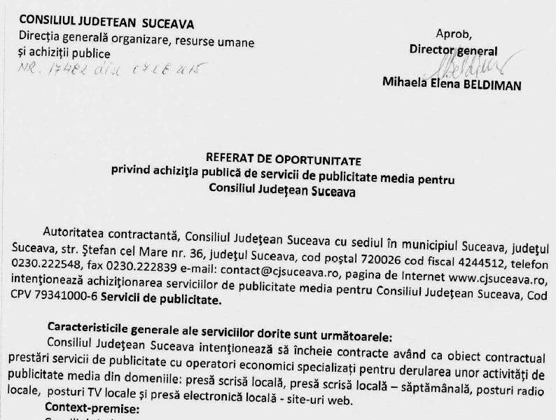 Cine a aprobat licitaţia câştigată de firmele Mihaelei Elena Beldiman?
