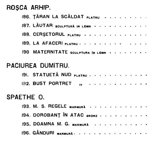 Arhip Rosca sculptura 1909 TINERIMEA ARTISTICA