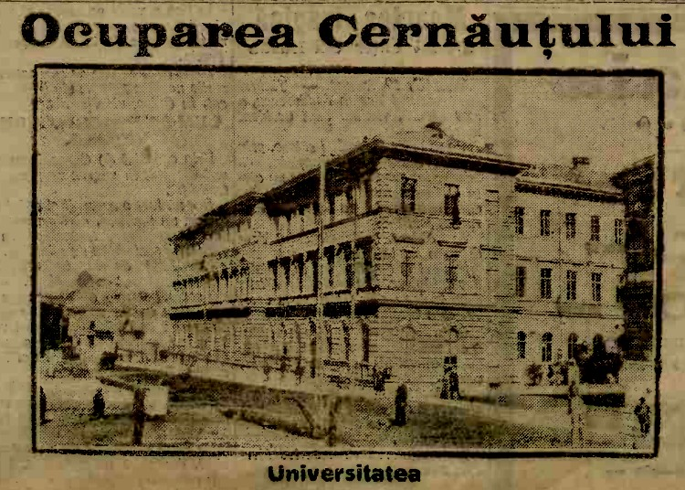 Armata rusa Cernauti Universitatea A 20 aug 1914