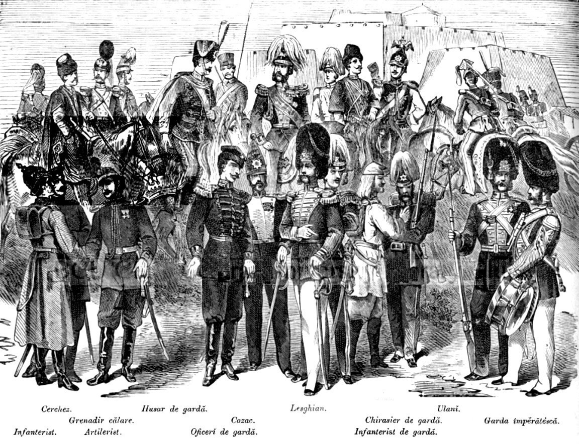 Armata rusa uniforme ALBINA CARPATILOR nr 12 1877