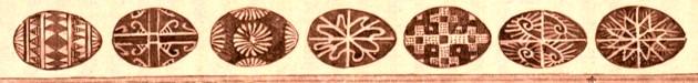 Ouă încondeiate de huţuli,  cf. Die österreichisch-ungarische Monarchie in Wort und Bild / 19 Galizien, p 557