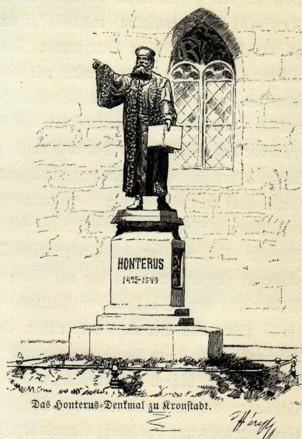 Braşov, statuia lui Honterus