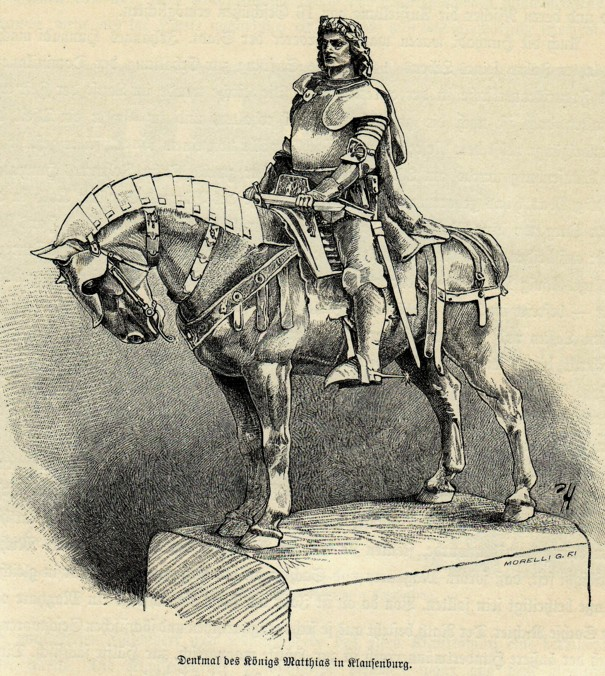 Cluj, schiţa statuii ecvestre a lui Matthias Corvin