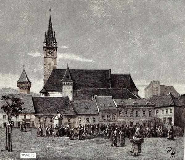 Mediaş, piaţa